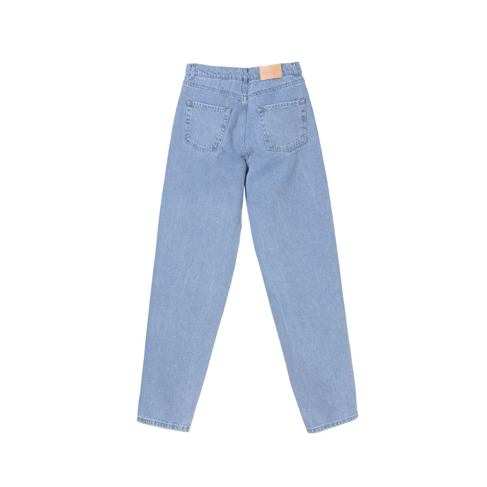 شلوار جین مردانه کوی مدل دایی رنگ آبی روشن -  - 3