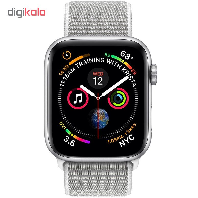 ساعت هوشمند اپل واچ 4 مدل 44mm Silver Aluminum Case with Seashell Sport Loop Band