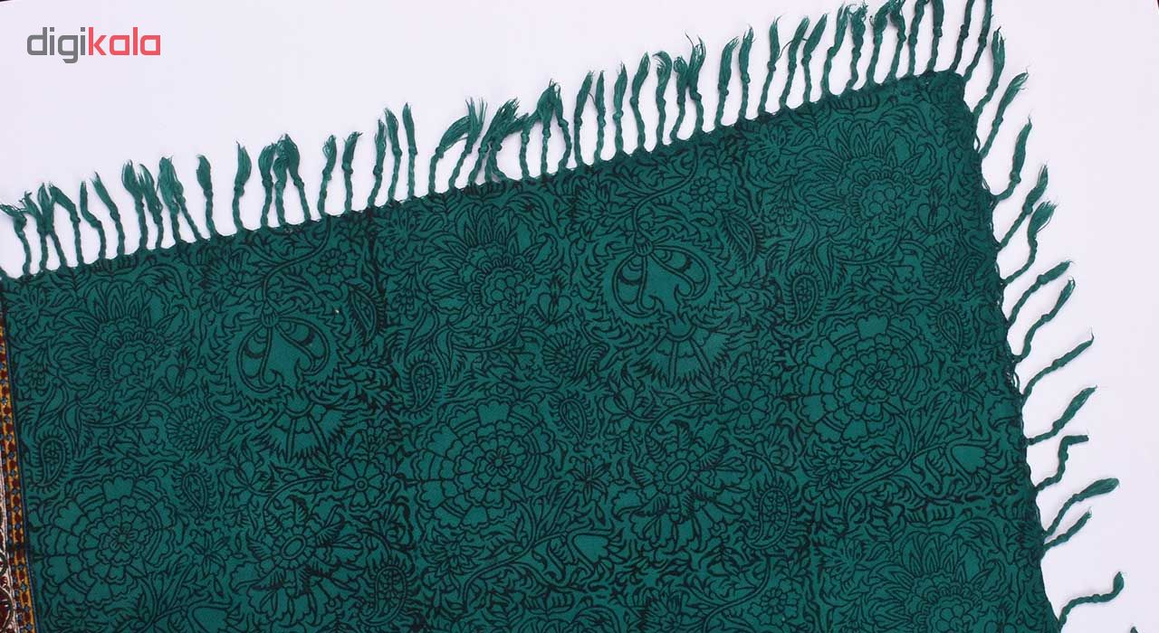 خرید                      پارچه قلمکار نرگس خانی اعلا طرح ترنج کمربندی سایز 100 × 100 سانتیمتر مدل 00- 28