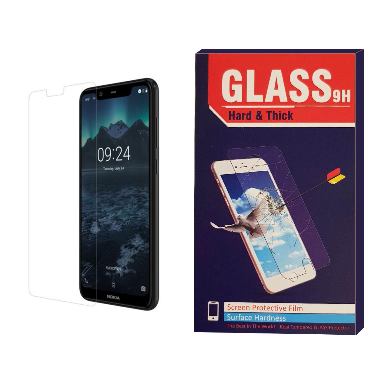 محافظ صفحه نمایش شیشه ای مدل Hard and Thick مناسب برای گوشی موبایل نوکیا   NOKIA 5.1 plus