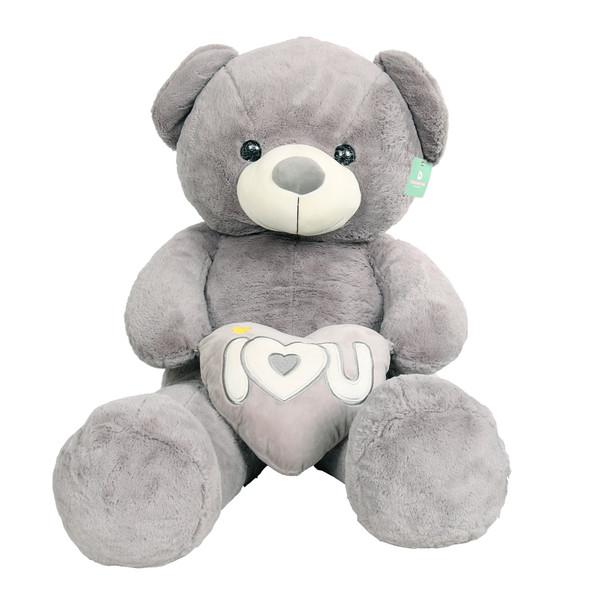 عروسک خرس دوای مدل i love you ارتفاع 120 سانتی متر