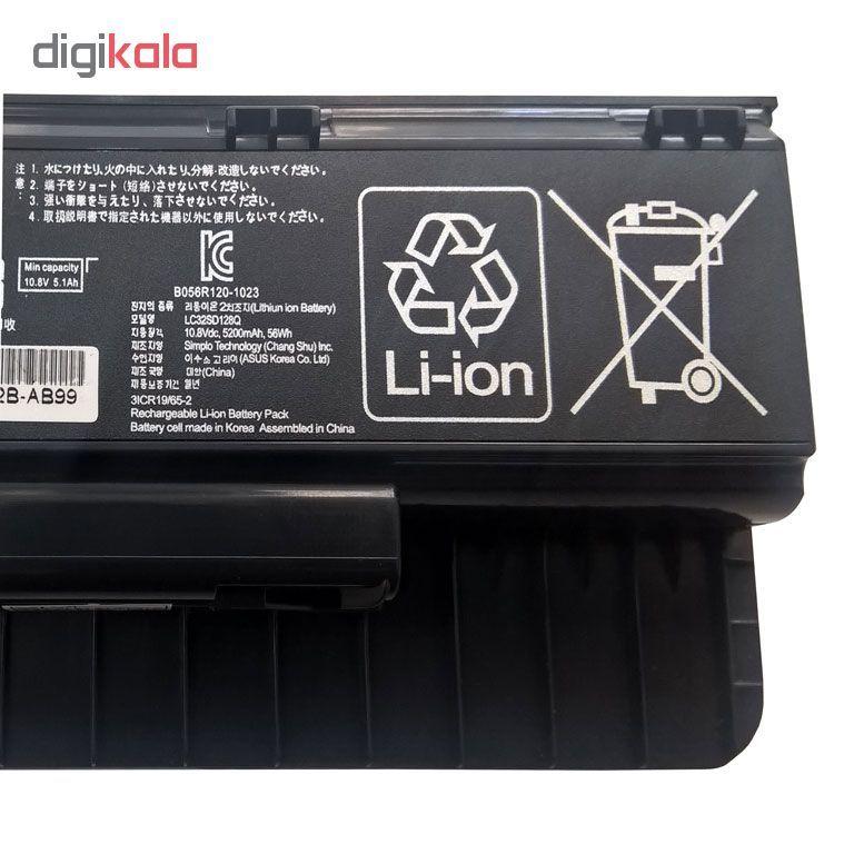 باتری لپ تاپ 6 سلولی مناسب برای لپ تاپ ایسوس N551 N751 G551 main 1 3