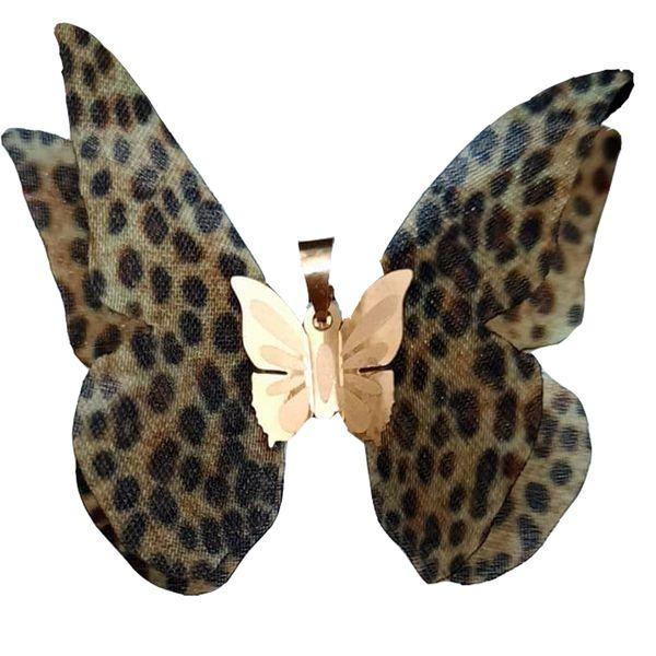 آویز گردنبند طلا 18 عیار زنانه گالری یارطلا مدل پروانه کد AP12