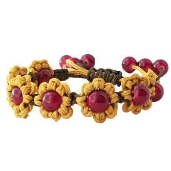 دستبند زنانه دستینه گالری مدل گل آفتابگردان کد DSTN-116