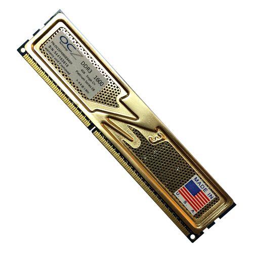 رم دسکتاپ DDR3 تک کاناله ۱۶۰۰ مگاهرتز CL۱۱ او سی زد مدل platinum ظرفیت ۴ گیگابایت