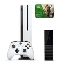 مجموعه کنسول بازی مایکروسافت مدل Xbox One S ظرفیت ۱ ترابایت به همراه ۱۰۰ عدد بازی