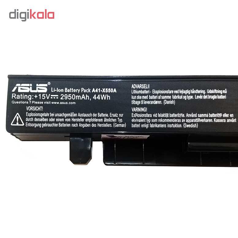باتری 4 سلولی مدل k550 مناسب برای لپ تاپ ایسوس