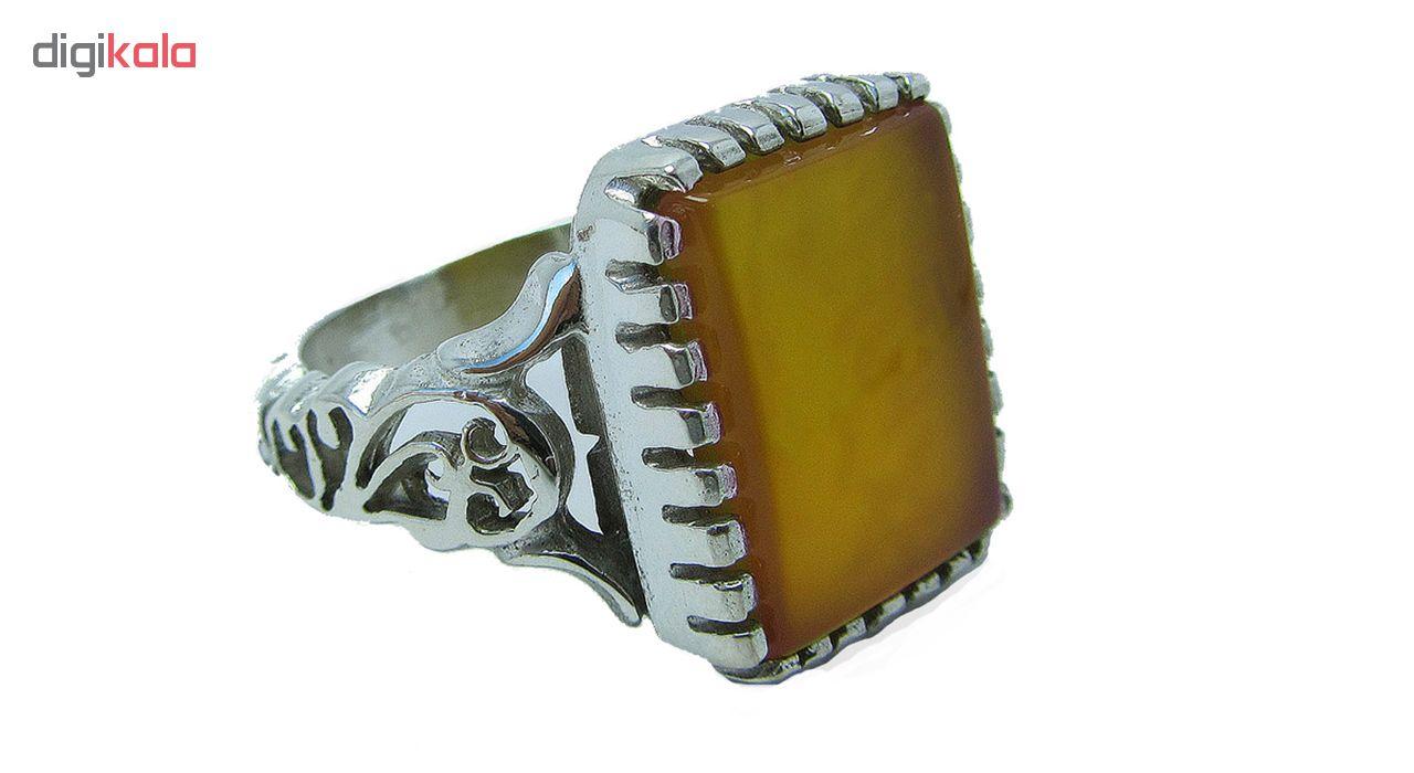 انگشتر نقره مردانه کد OP130