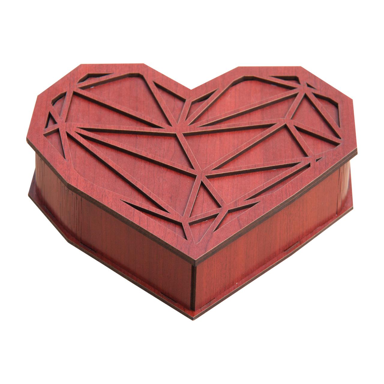 شکلات خوری اس ای دکور طرح قلب مدل 04