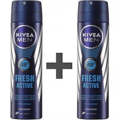 تصویر اسپری مردانه نیوآ مدل Fresh Active حجم 150 میلی لیتر – 2 عددی