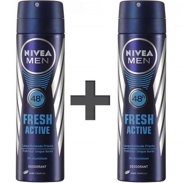 اسپری مردانه نیوآ مدل Fresh Active حجم 150 میلی لیتر - 2 عددی