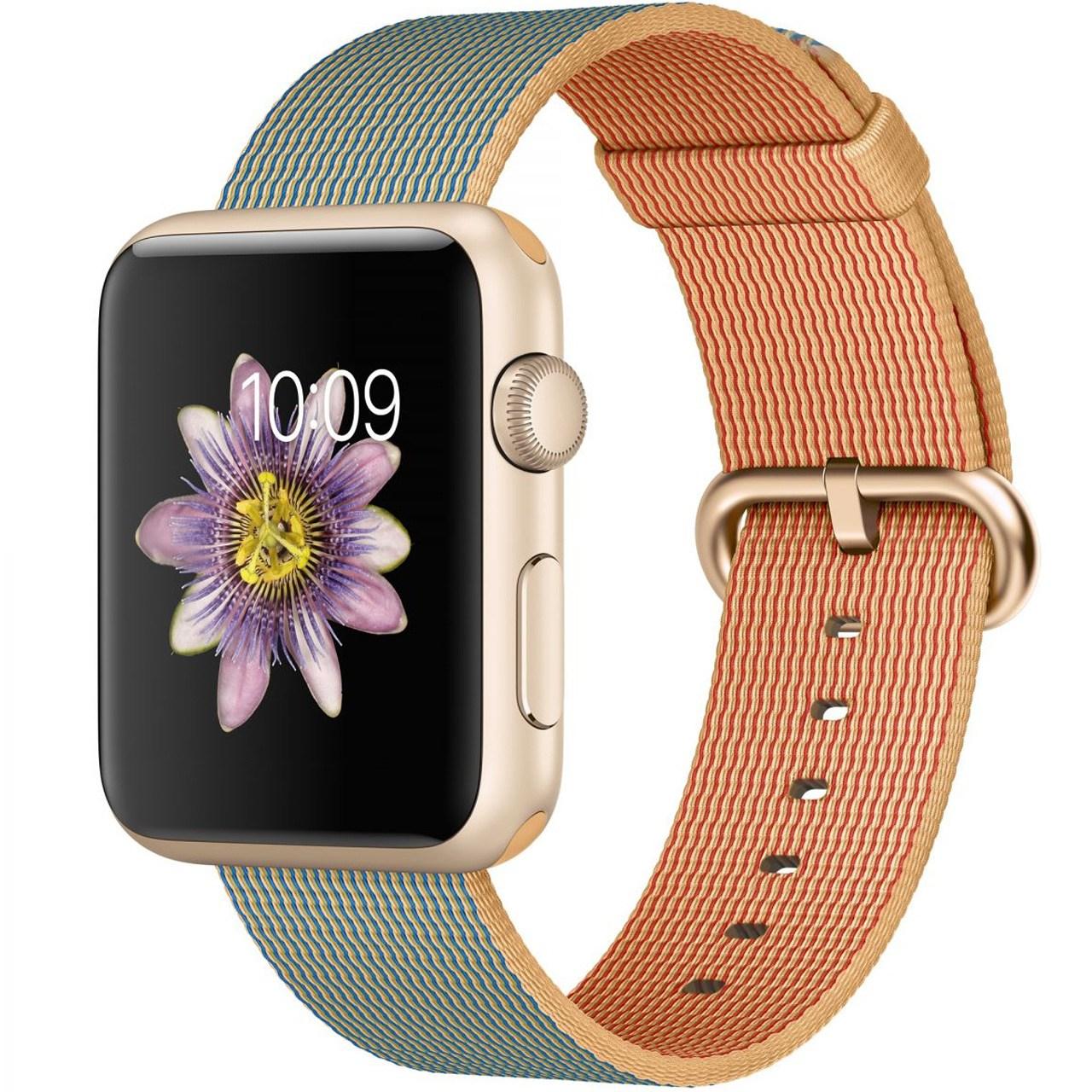 ساعت مچی هوشمند اپل واچ مدل 42mm Sport Gold Royal Blue Woven Nylon New