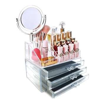 استند لوازم آرایش مدل beauty box آینه دار