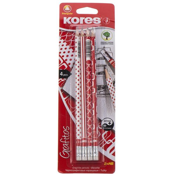 مداد مشکی کورس مدل Grafitos بسته 4 عددی