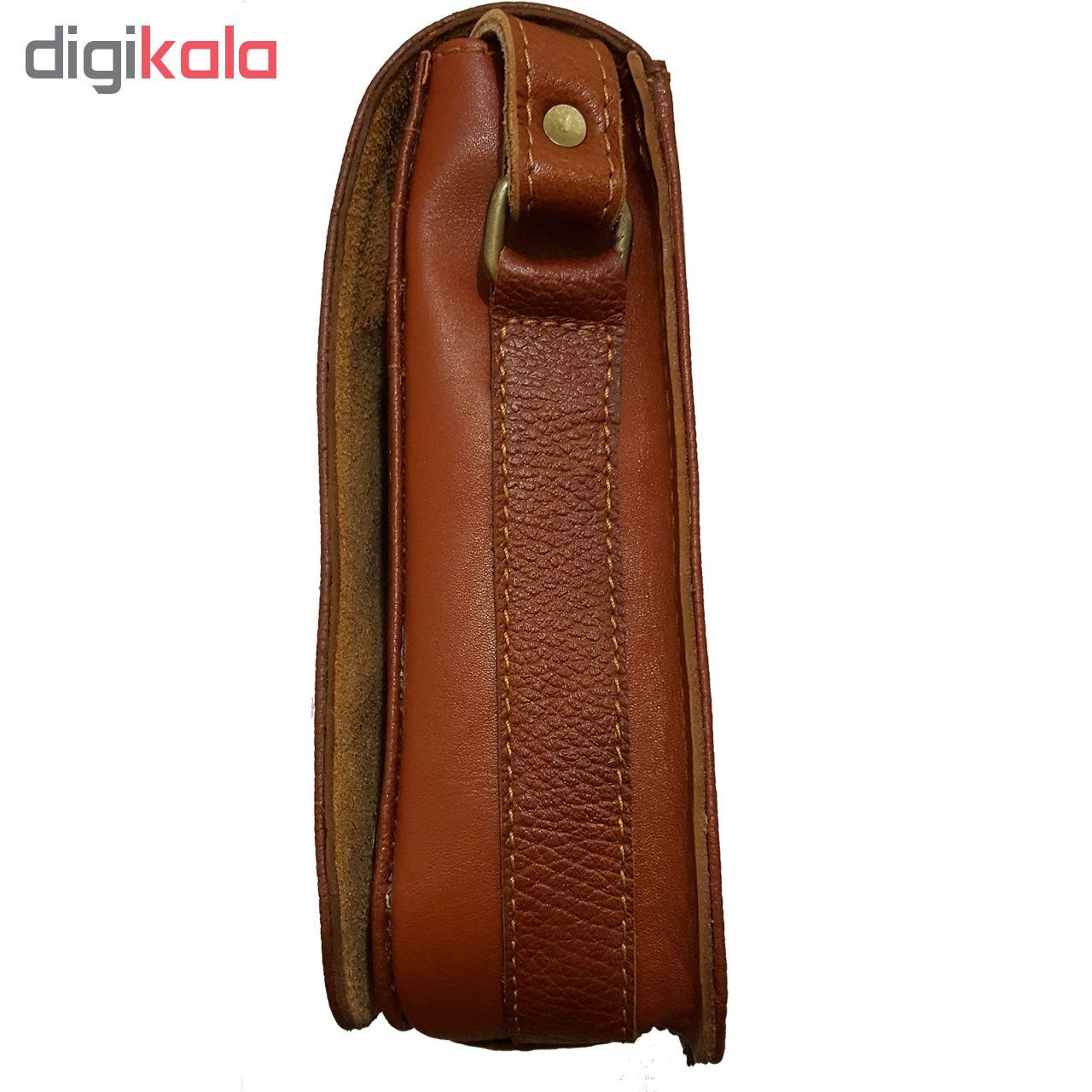 کیف رو دوشی چرم زانکو مدل فلوتر KD-120988 main 1 3