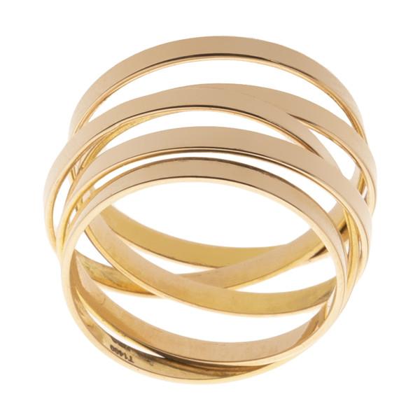 انگشتر طلا 18 عیار زنانه سنجاق مدل X076457