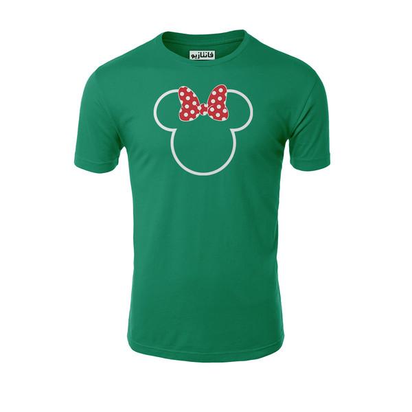 تیشرت آستین کوتاه مردانه فانتازیو مدل 151 طرح Minnie Mouse کد MM002