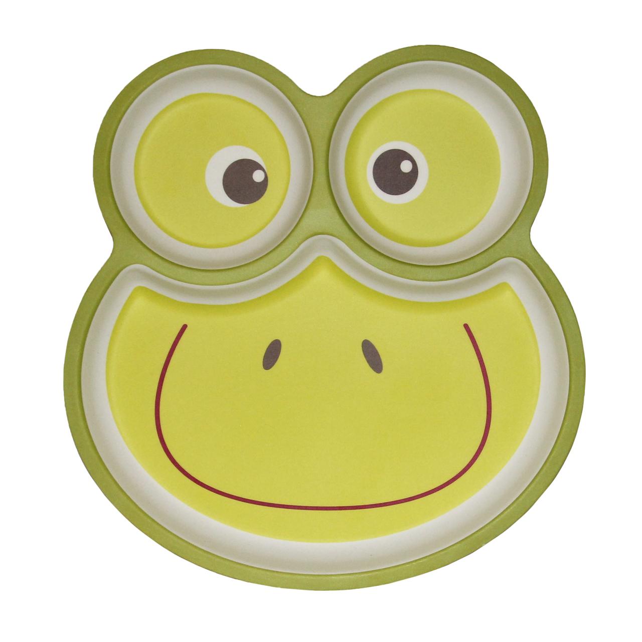 ظرف غذای کودک بامبو فایبر طرح Happy frog