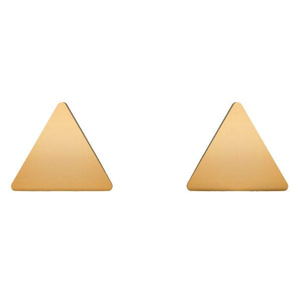 گوشواره طلا 18 عیار زنانه آمانژ مدل مثلث