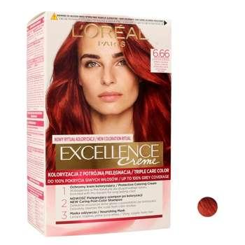 کیت رنگ مو لورآل سری Excellence شماره 6.66 حجم 50 میلی لیتر رنگ قرمز شرابی