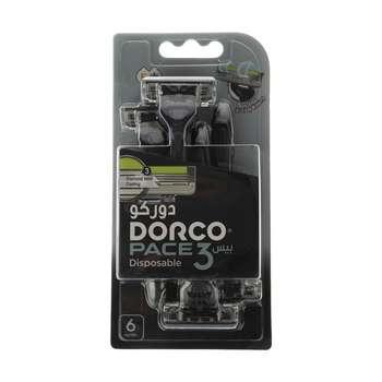 خودتراش دورکو مدل  Pace 3 Disposable بسته 6 عددی