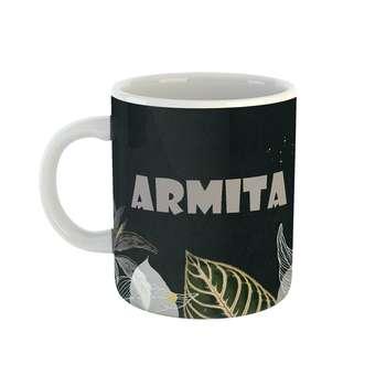 ماگ طرح اسم آرمیتا مدل برگ کد 411