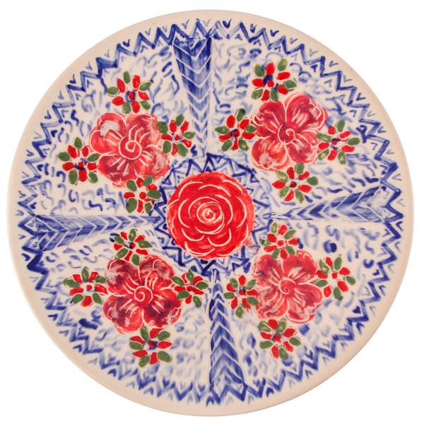 بشقاب سرامیکی گالری فرتاش طرح گل سرخ کد 171123
