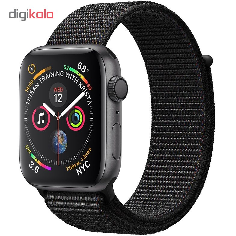 خرید ساعت هوشمند اپل واچ 4 مدل 40mm Space Gray Aluminum Case with Black Sport Loop Band