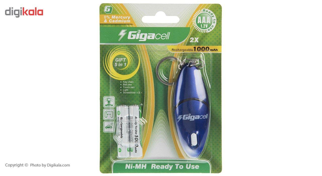 باتری نیم قلمی قابل شارژ گیگاسل مدل 1000mAh بسته 2 عددی main 1 1