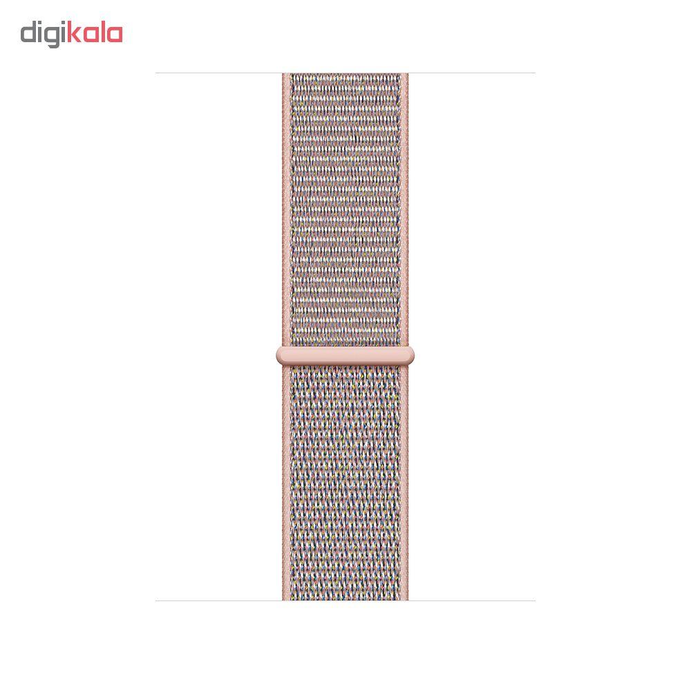 ساعت هوشمند اپل واچ 4 مدل 40mm Gold Aluminum Case with Pink Sand Sport Loop Band