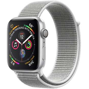 ساعت هوشمند اپل واچ 4 مدل 40mm Silver Aluminum Case with Seashell Sport Loop Band