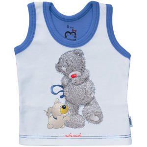 تاپ نوزادی پسرانه آدمک مدل خرس پشمالو رنگ آبی