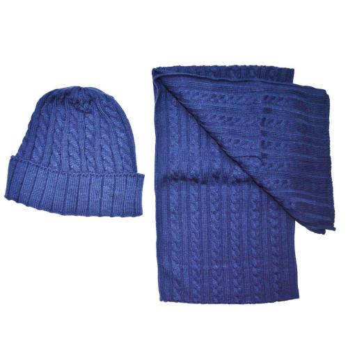 ست شال گردن  و کلاه  بافتنی مدل لاویز کد 24