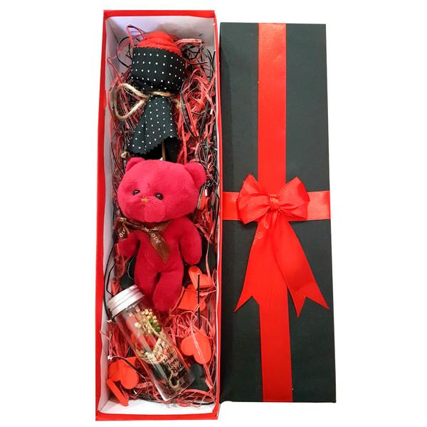 پک هدیه و ست هدیه عروسک خرسی مدل 07-love