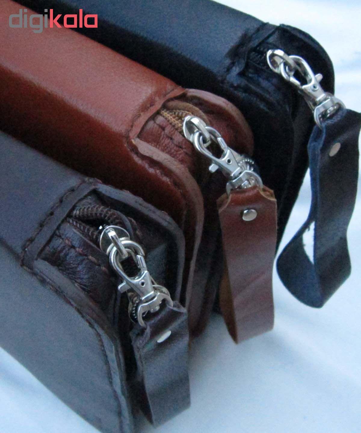 کیف دستی مدیریتی  چرم طبیعی دستدوز مژی مدل MSH main 1 6