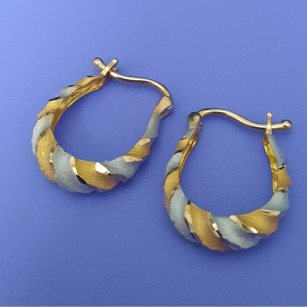 گوشواره طلا 18 عیار زنانه گالری یارطلا کد AGF31