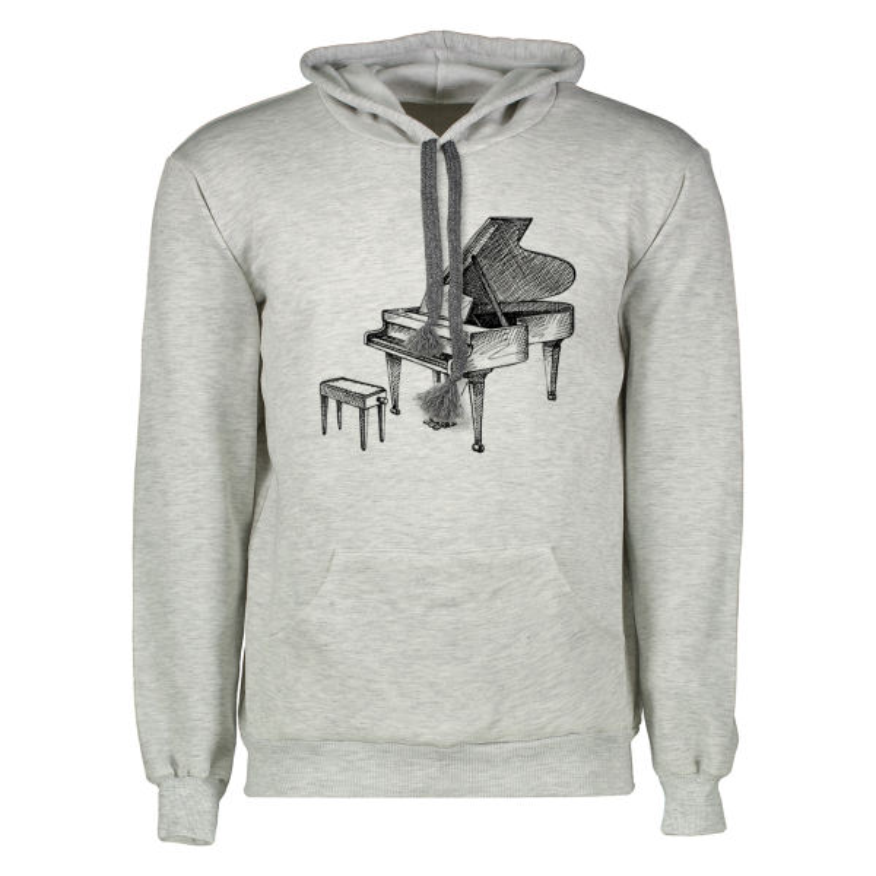 هودی مردانه طرح پیانو کد ELINOR-MH20