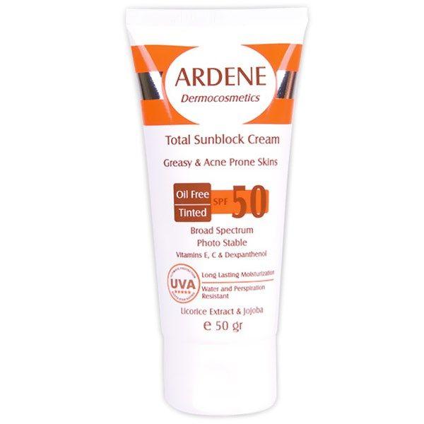 کرم ضد آفتاب رنگی آردن SPF50