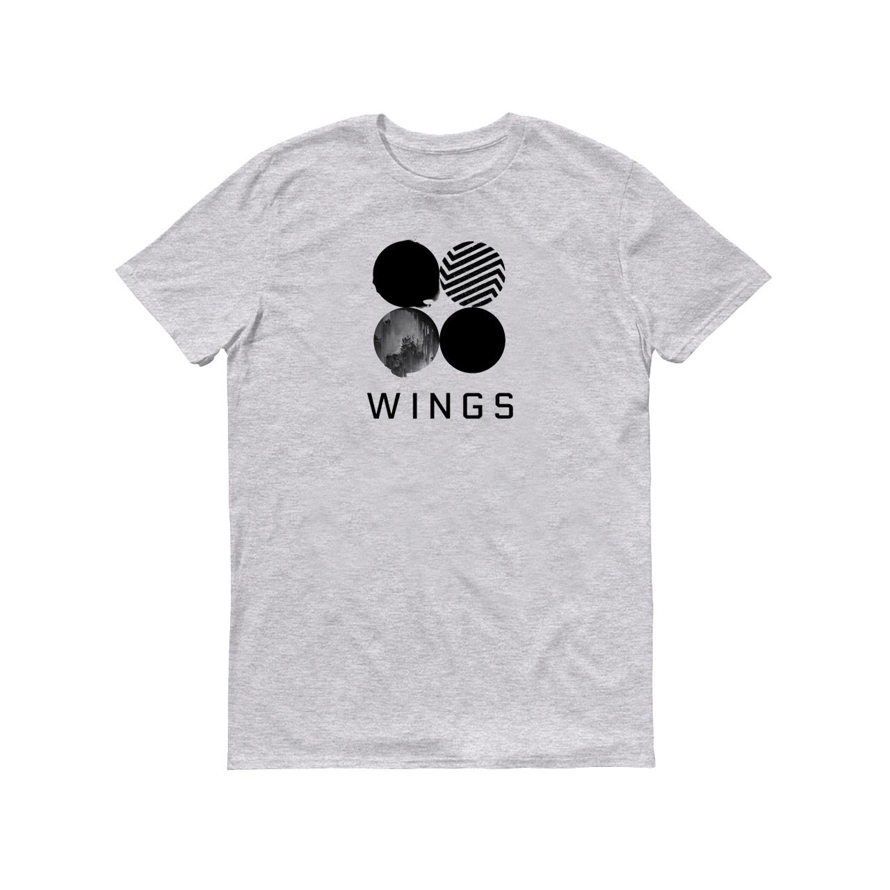 تی شرت مردانه طرح Wings Bts کد 142-1