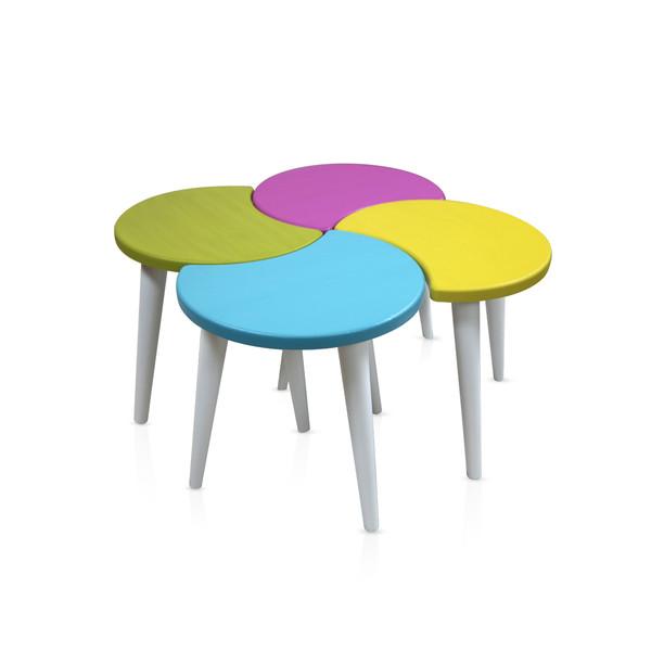 میز عسلی  ویانا مدل ونیز کد 101GH مجموعه 4 عددی