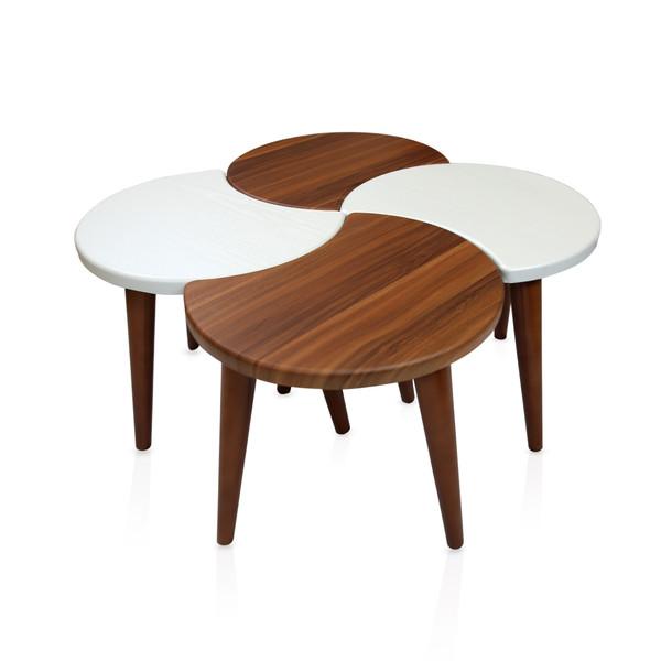 میز عسلی ویانا مدل ونیز کد 102GH مجموعه 4 عددی
