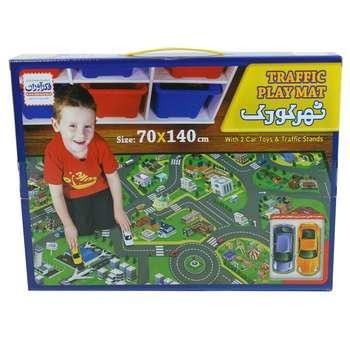 زیر انداز بازی  فکرآوران مدل شهر کودک سایز 70×140 سانتی متر