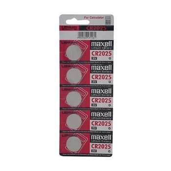 باتری سکه ای مکسل مدل CR2025 بسته 5 عددی