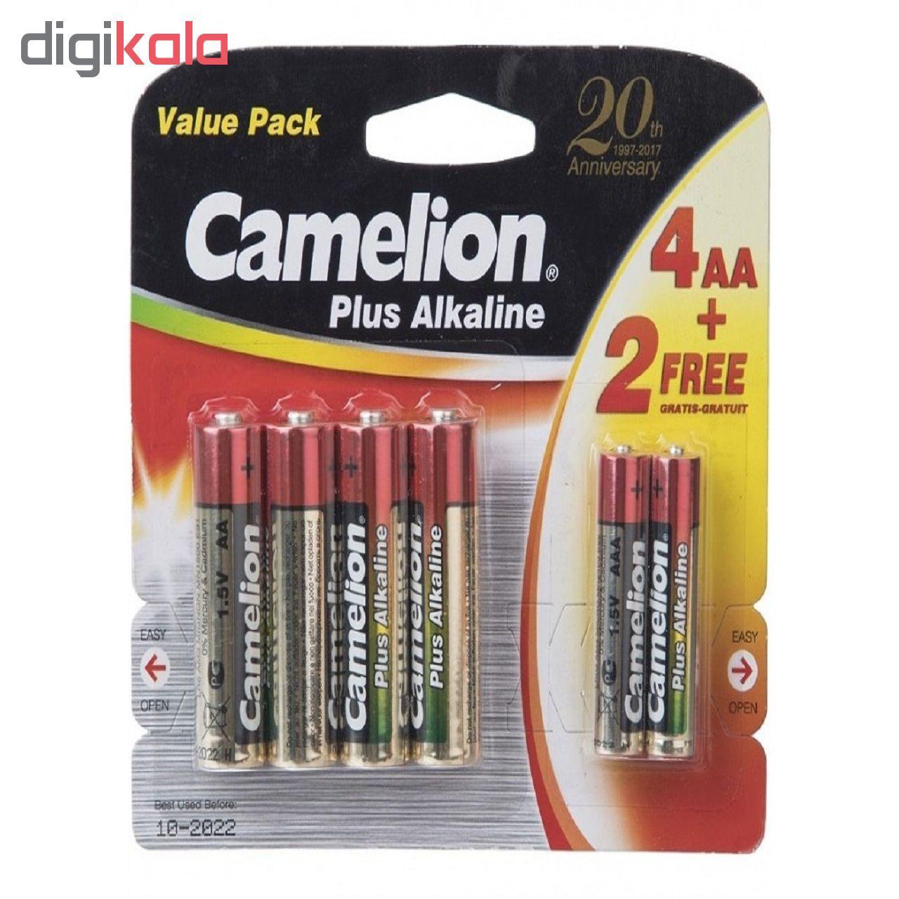 باتری قلمی و نیم قلمی کملیون مدل Plus Alkaline بسته 6 عددی main 1 1