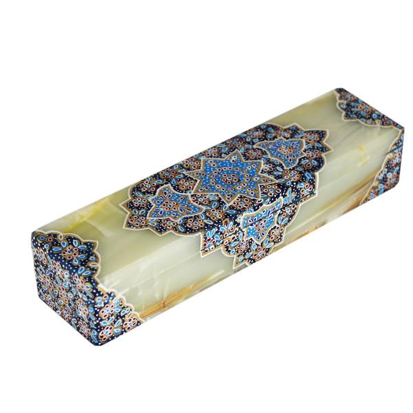 قلمدان سنگ مرمر طرح کف سنگ چین کد 31