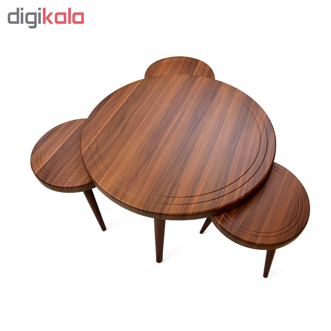 میز جلو مبلی و عسلی ویانا مدل کلاسیک کد 117GH مجموعه 4 عددی main 1 2