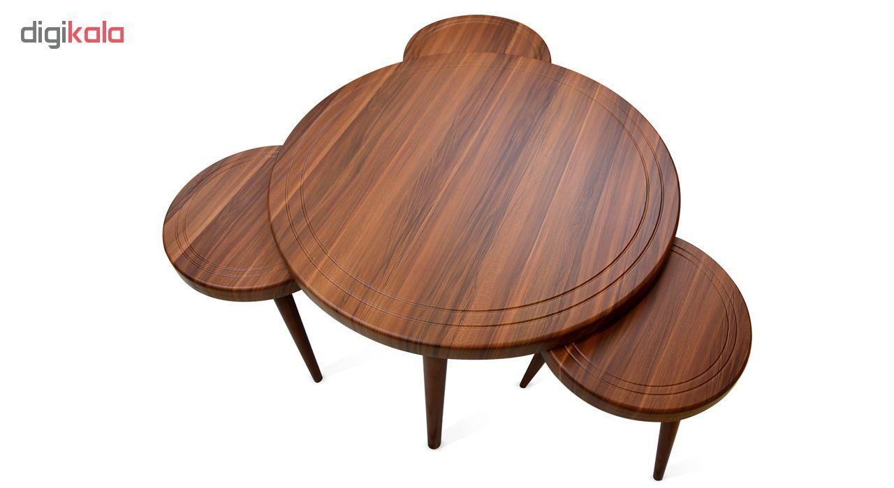 میز جلو مبلی و عسلی ویانا مدل کلاسیک کد 117GH مجموعه 4 عددی main 1 1