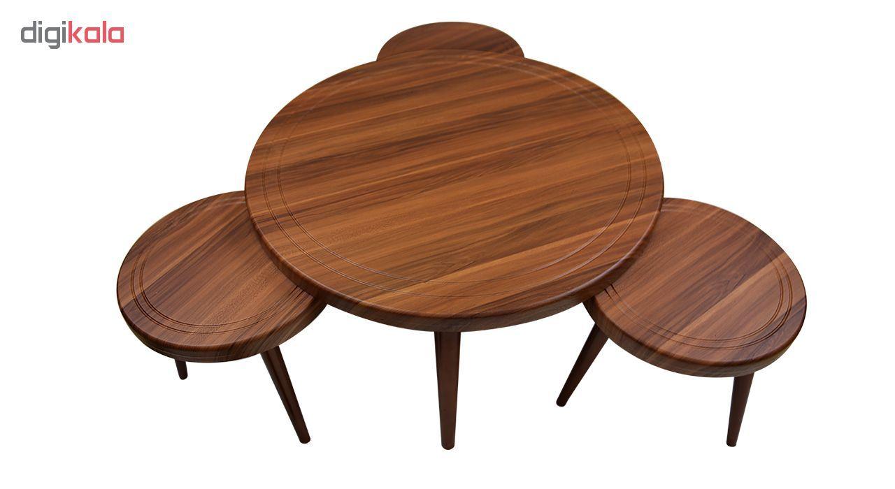 میز جلو مبلی و عسلی ویانا مدل کلاسیک کد 117GH مجموعه 4 عددی main 1 3