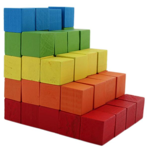بازی آموزشی چوبین مدل مکعب های رنگی 100 عددی
