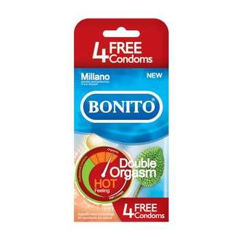 کاندوم تاخیری بونیتو مدل  Double Orgasm Hotبسته 16 عددی